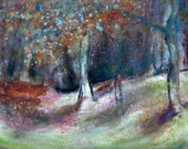 "Art print, Giclee print 10"" x 14"" of an original Painting, Fine Art, Landscape painting, Oil on canvas (SOLD) ""Woodlands"""