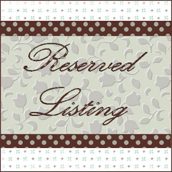 Reserved Listing for Tara  -  Burlap Bow