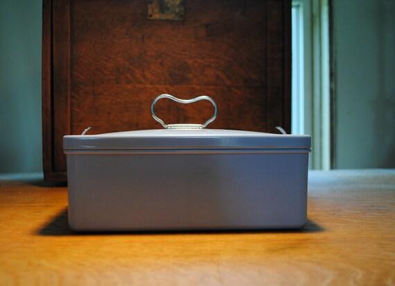 1950 Baby Blue Bakelite  Bandalasta conacle made inn England Sandwich Box ANTIQUE lunchbox PURSE storage