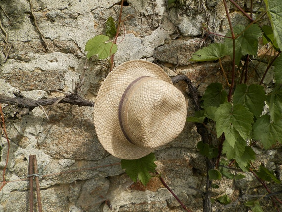 Reserved for Penelope Vintage French man's straw hat