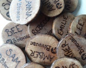 Wooden, Personalized Name Badge- Rustic- Eco- Nature-