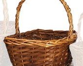 NEW Medium handled program basket with your choice of ribbon color, basket color and custom sign