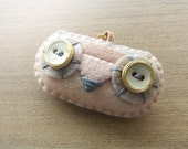 Felt Necklace - Owl necklace - Kawaii necklace - Felt accessories -  READY TO SHIP