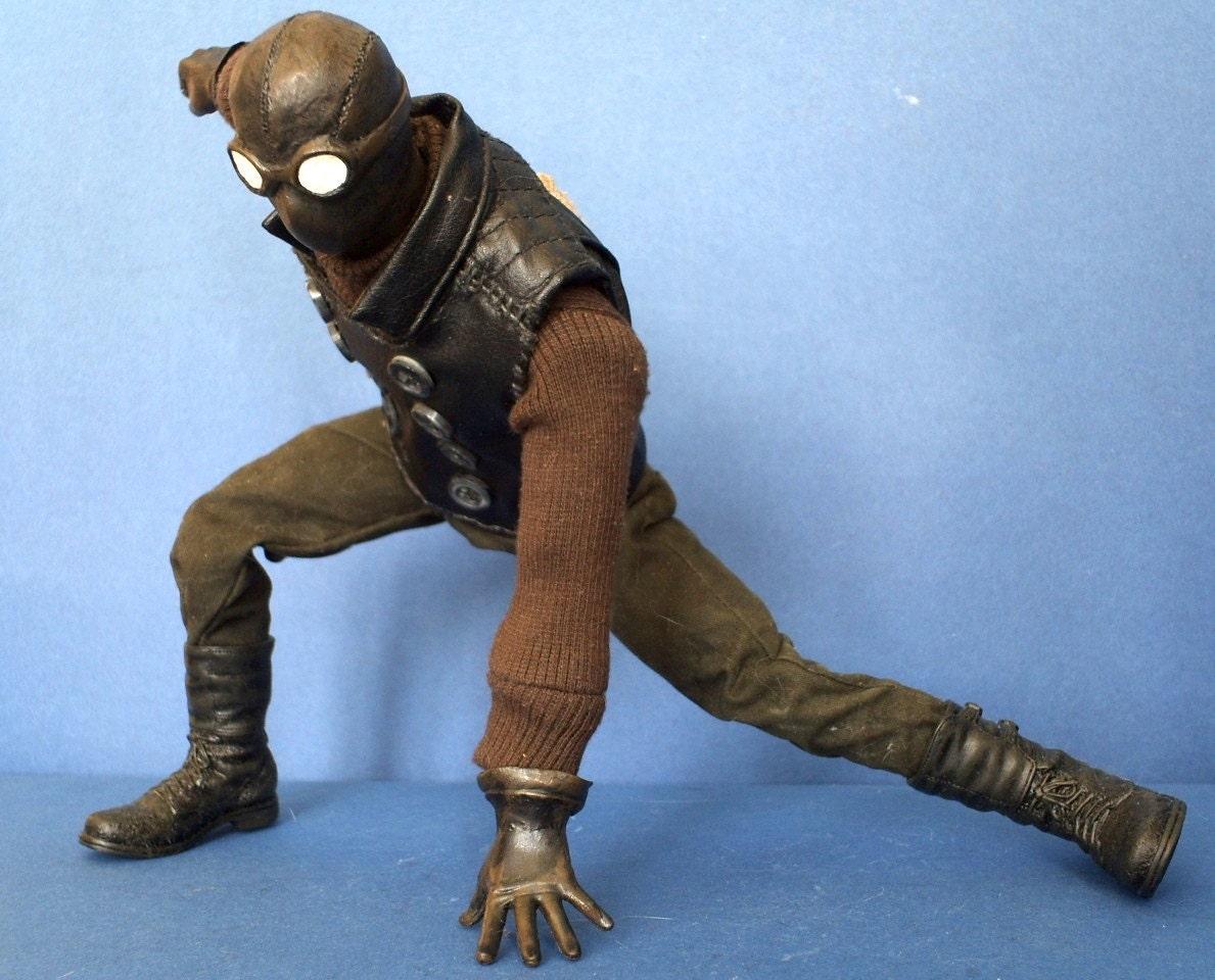 marvel noir spider man noir 1 6 scale 12 doll custom. Black Bedroom Furniture Sets. Home Design Ideas