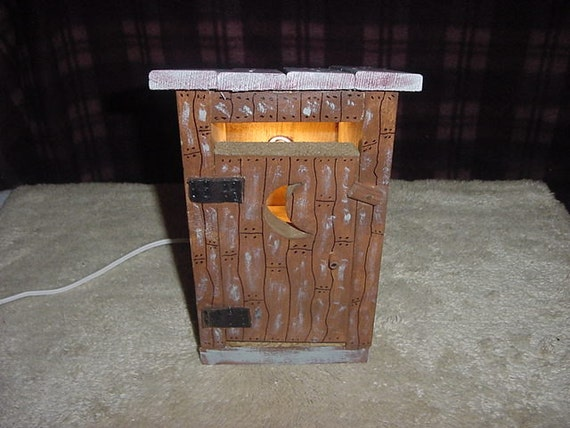 Painted  Outhouse with Clip Light