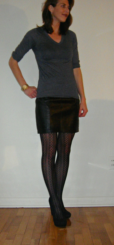 1980s Vintage Black Leather Mini Skirt / On by ...