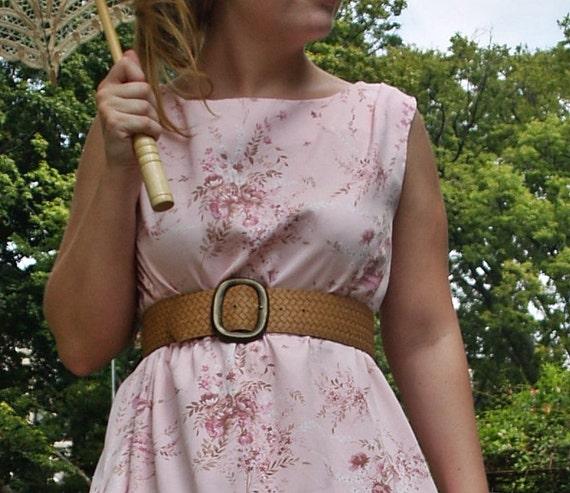 Basket Woven Waist Belt / Tan Waist Belt / Size Small Belt / Wide Waist Belt / Camel Belt / Shabby Chic Belt / Indie Belt / Victorian