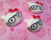 Hello Kitty Nerd Kawaii Faces with Glasses