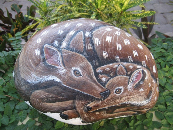 Hand Painted Rocks / Stones / Acrylics / Home / Outdoor Decor