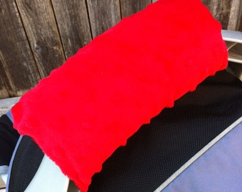Car Seat Handle Cushion - You Choose Fabric & Minky Color