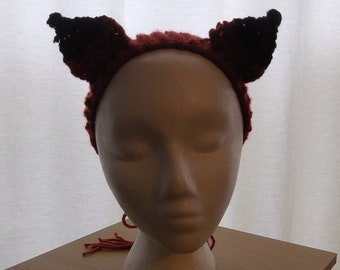 Knitted Red Fox Ears