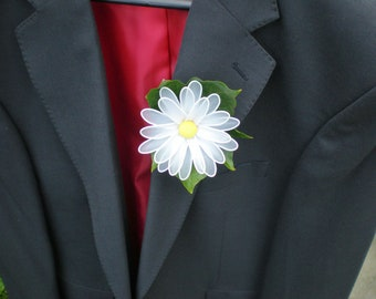 Daisy Button Hole, Wedding Accessories, Groom Button Hole, Ushers, Father of the Bride, Best Man, Guests, Bridal Party.
