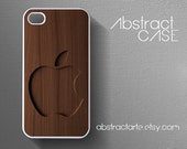 Personalised Engraved Wooden Print IPHONE 5 CASE - Iphone 4 Case - Apple Logo - iPhone 4S case,iPhone case Samsung Galaxy S3 case