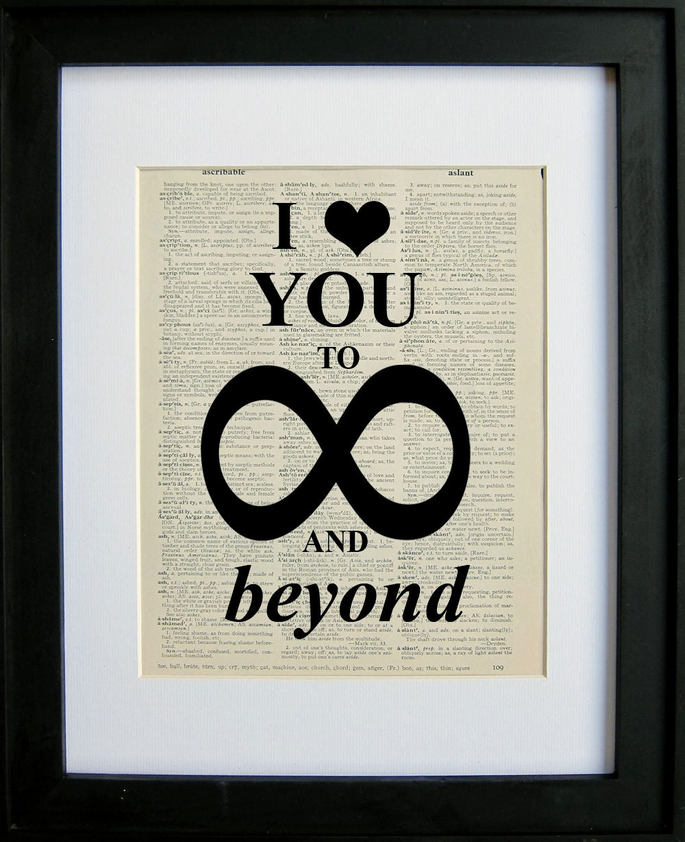 Request a custom order and have something made just for you I Love You To Infinity And Beyond Tumblr