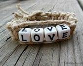 Hemp Bracelet Love Beaded Macrame For Women