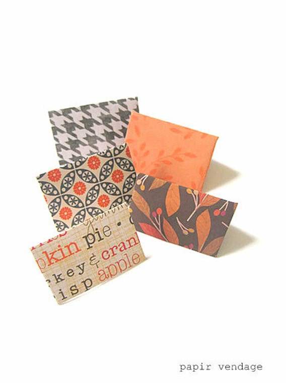 27pc. set Fall Themed Mini Envelopes & Notecards Stationary - Fall 2012 Limited Edition, Harvest Collection, Autumn Designs