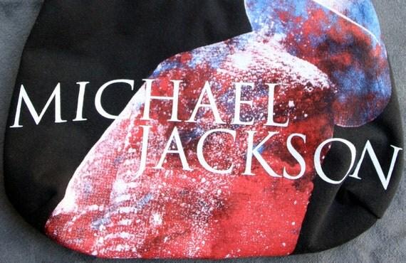 Michael Jackson - OOAK Purse - Upcycled Rock T-shirt