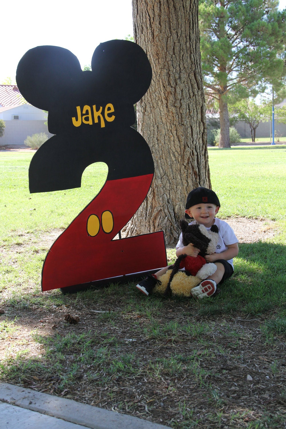 One birthday number party prop mickey by prettypartiesndpaint for Number 1 decorations