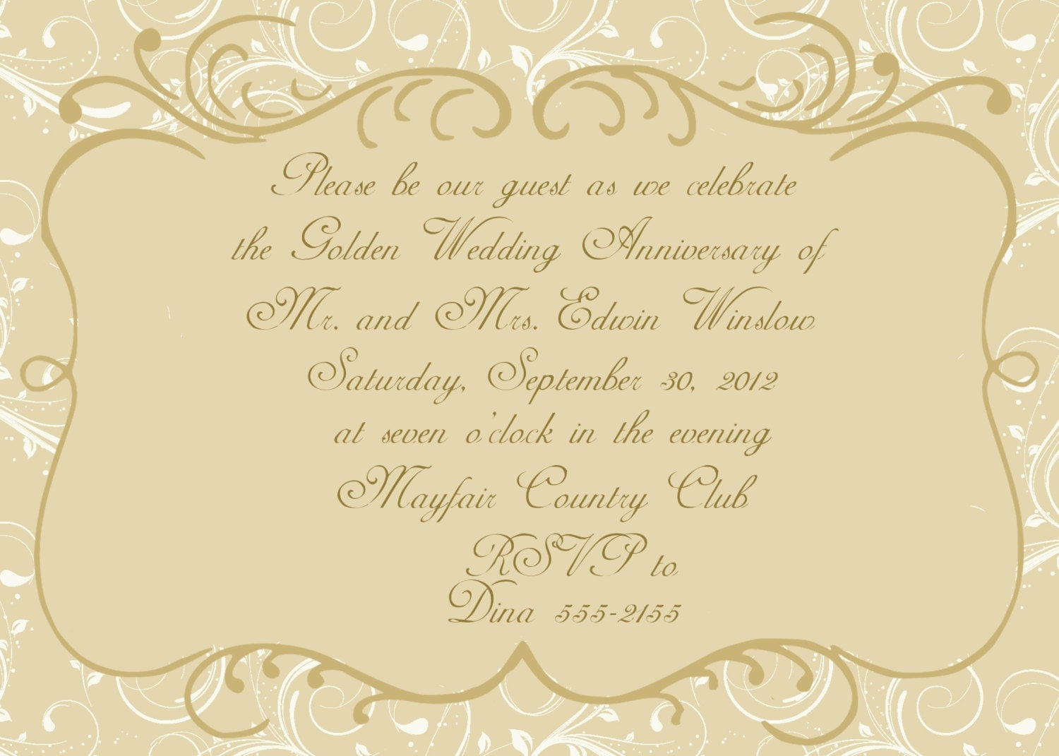 50th wedding anniversary invitation by celebrationspaperie on etsy - Wedding anniversary invitations ...