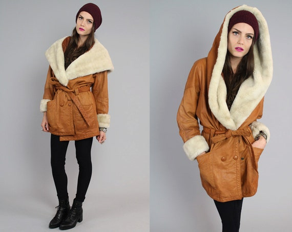Hooded Sheepskin Coat - Coat Nj
