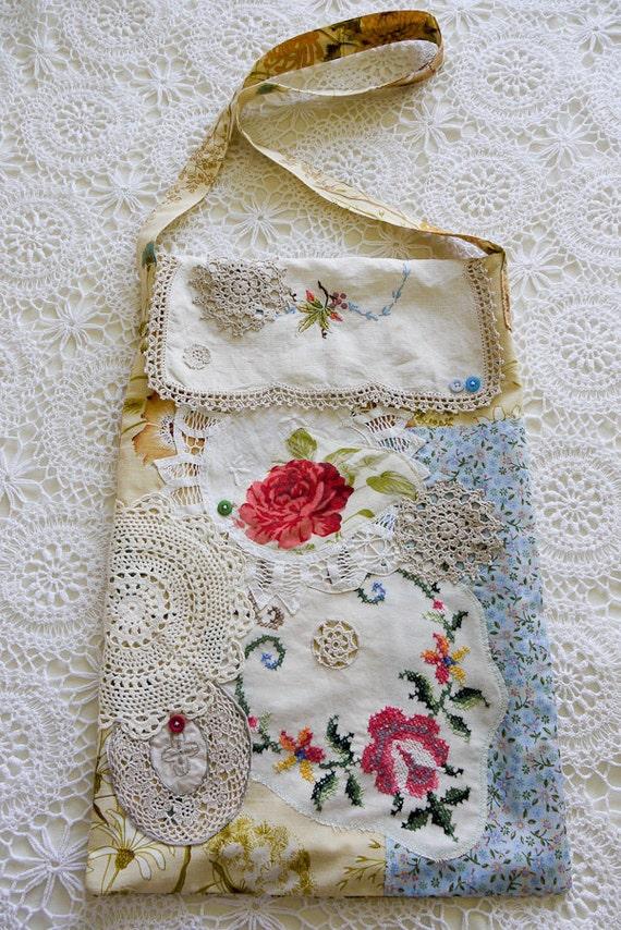 Floral Doily Market Bag