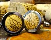 Cool Cufflinks - Bacchus Wine Cork Cufflinks