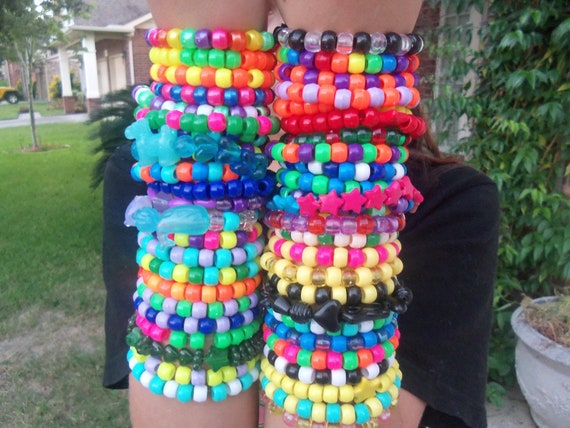 50 Bright Kandi Rave Bracelet Cute And Neon