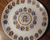 Collectable 1970's Richard Nixon Presidents Plate