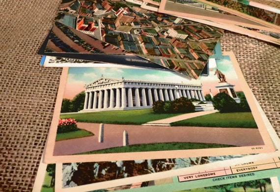 Vintage Destination Postcards - Buy one, or Buy in Bulk