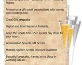 Wedding Speech Gift Scroll Personalized Keepsake - Digital Version