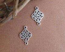 Sterling Silver Celtic Knot Connector -- Two Pieces -- 925 Sterling Celtic Goddess Symbol findings