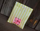 Yellow Striped Favor Bags with Window  and FREE Thank You Printable Tags