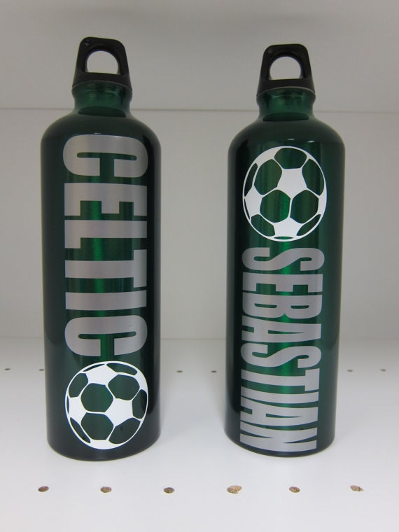 Personalized Water Bottle Soccer
