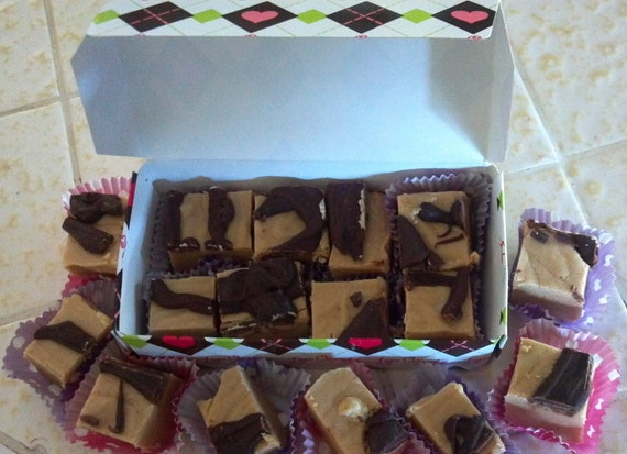 1 1/2 lbs of Pure Heaven Peanut Butter Fudge Drizzled with Chocolate