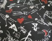 Black Fabric-4 yrds Black Fabric-Black Teen Material-Black Teen Fabric-Skater Fabric-Steampunk Fabric-Yards of Fabric