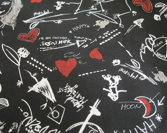 Black Fabric-4 yrds Black Fabric-Black Teen Material-Black Teen Fabric-Skater Fabric-Steampunk Fabric-Yards of Fabric