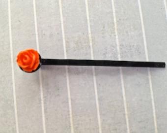 Orange Bud Hair Pin