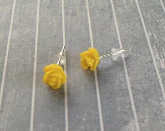 Yellow Bud Earrings