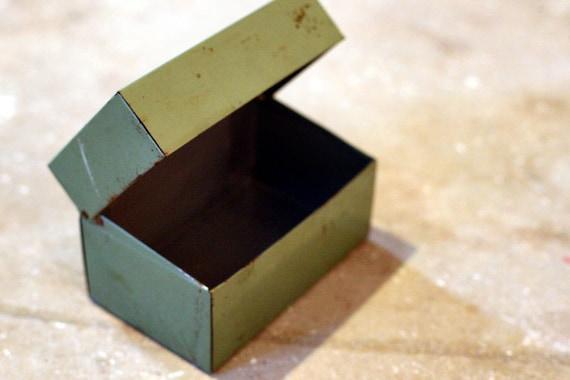 Decorative Box - Jewelry Box - Metal Box - Recipe Box - Sewing Box - Modern Box (Mid-Century MidCentury)
