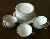 Vintage Art Deco 1930s Teacups and Saucers Fine China Set - Margarete - Germany - Beautiful Style and Lines