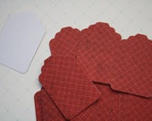 1.00 Set of 28 Red Grid Christmas Tags