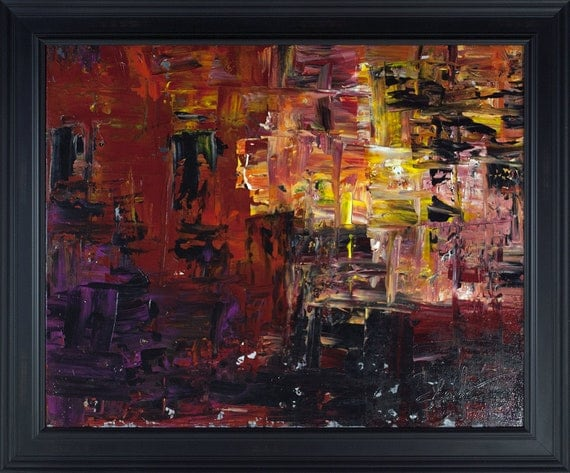Original Abstract Art/Painting on Canvas 30 x 24 x .5
