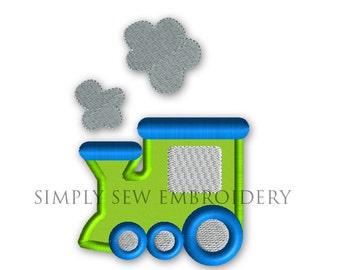 Train Applique -- Boy or Girl Embroidery Design Machine Applique No. 034