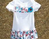 Thing 1 and 2 Bodysuit with red or blue floweret