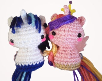 Prince Shining Armor and Princess Cadence - My Little Pony Plushie Set - Made to Order