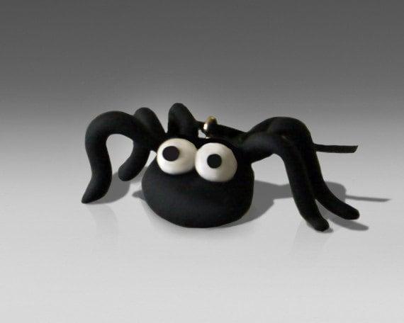 SpiderSnick -  spider polymer clay Halloween ornament
