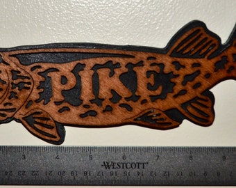 Northern Pike Scroll Saw Wall Plaque