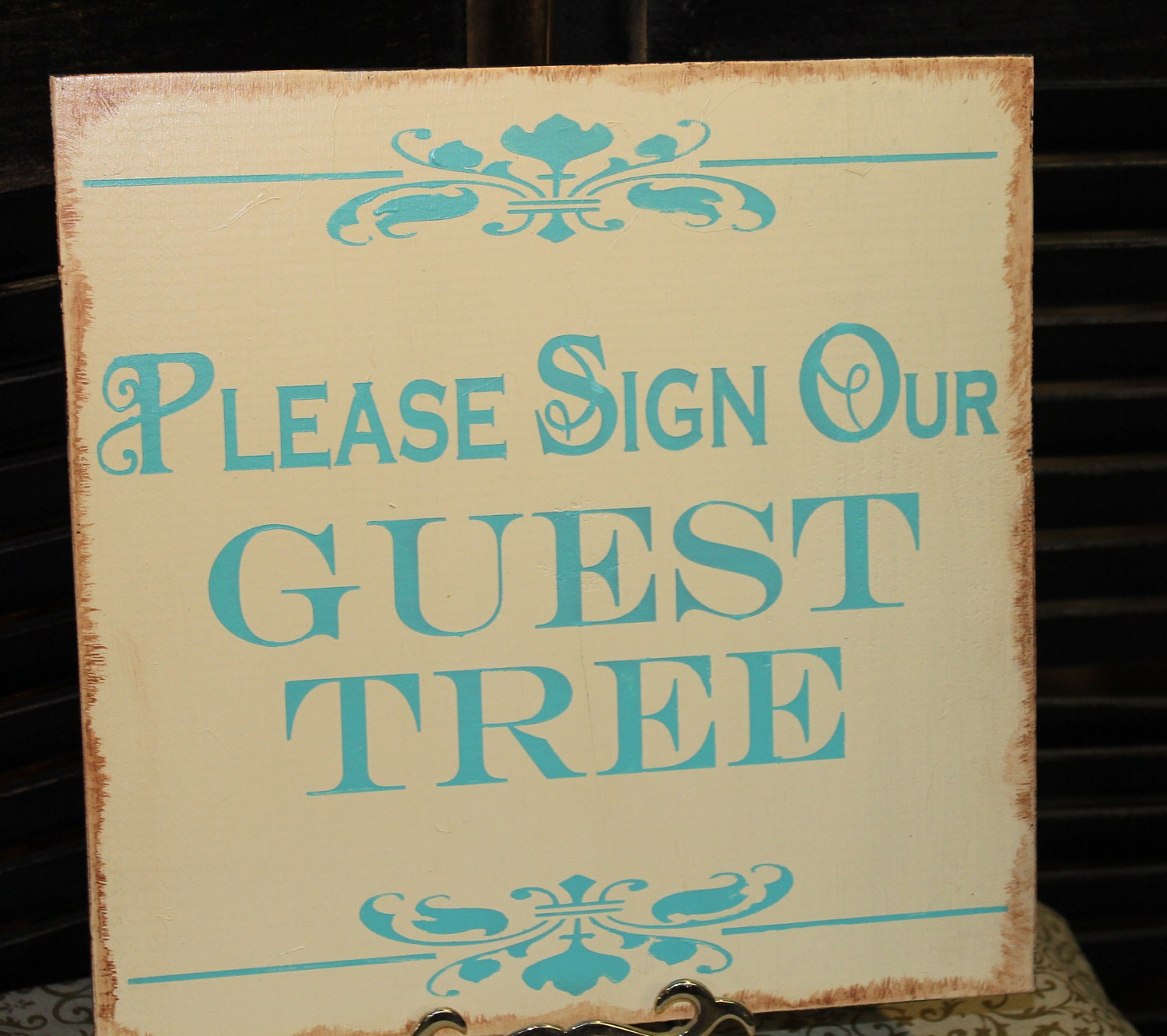 Wedding Guest Signing Tree: Guest Tree Wedding Sign/Please Sign By Gingerbreadromantic
