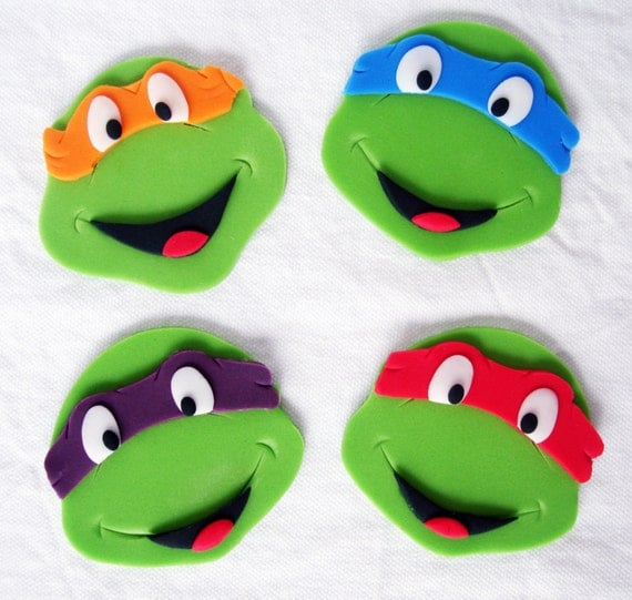 Fondant Ninja Turtles Cake Toppers