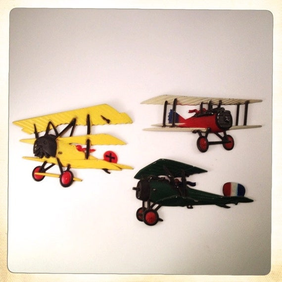 Vintage Metal Airplane Wall Decor Homco